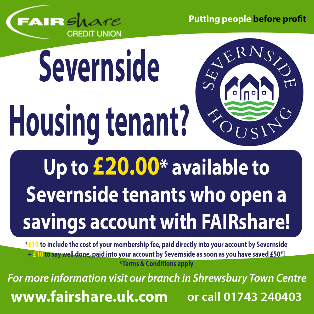 Partners Credit Union Branch: Are You A Tenant Of Severnside Housing?