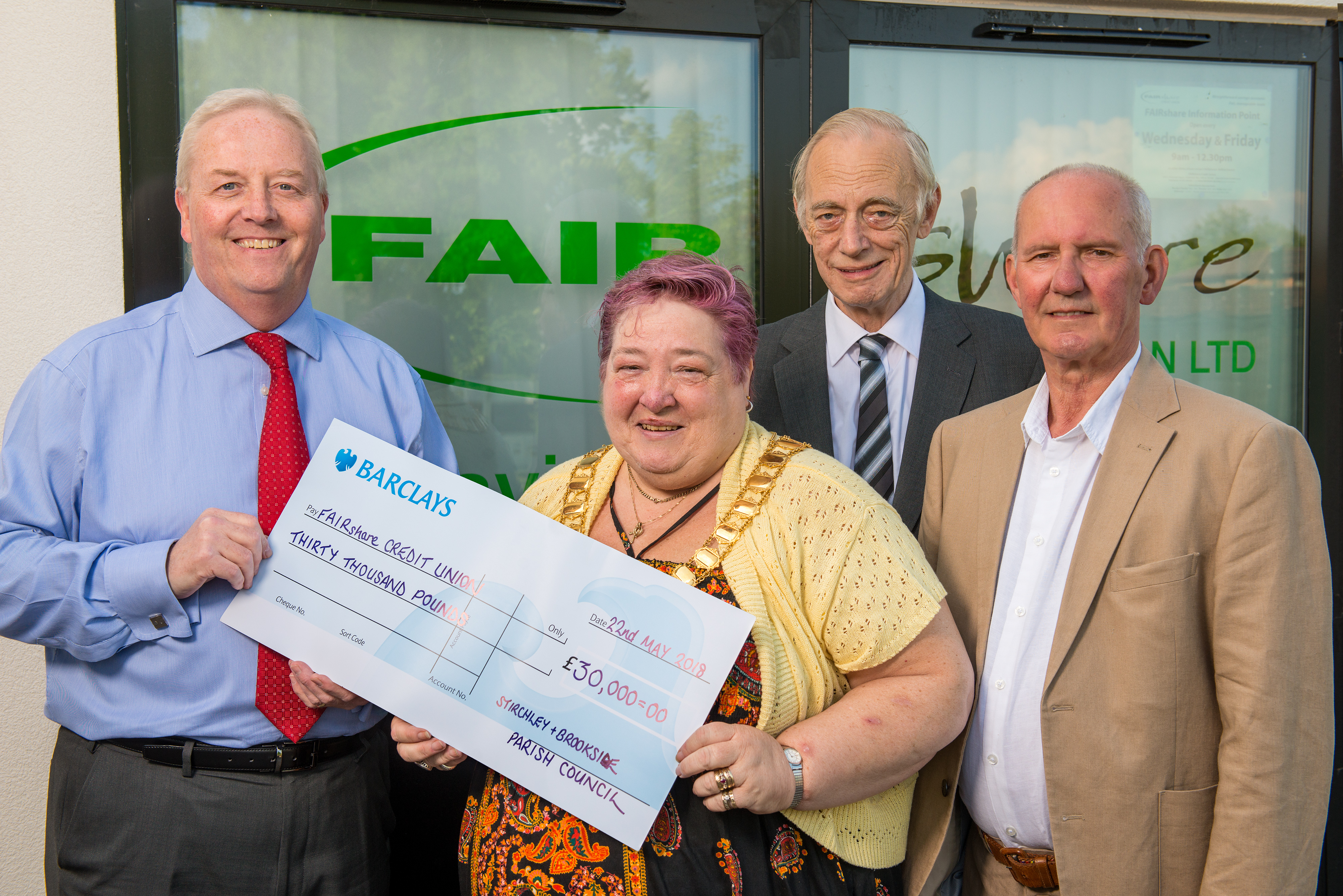 Stirchley & Brookside Parish Council invest with FAIRshare Credit Union