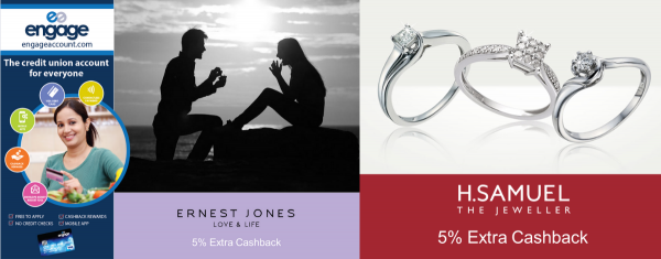 Valentine cashback offers from Engage